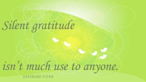 silent gratitude is worthless