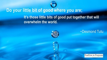 drops of kindness overwhelm the world