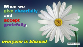 give gracefully & accept gratefully