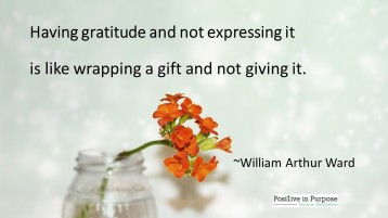 having gratitude and not sharing is like